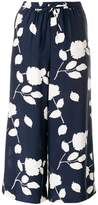 P.A.R.O.S.H. floral print cropped trousers