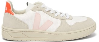Veja V-10 B-mesh Low-top Suede Trainers - Womens - White Multi