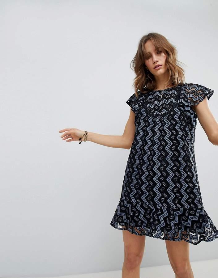 Anna Sui Frill and Flare Mini Dress