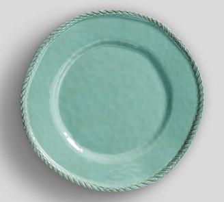 Pottery Barn Rope Melamine Dinner Plate - Turquoise