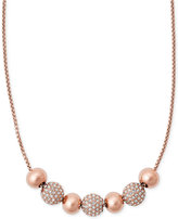 Michael Kors Pavé Crystal Beaded Slider Necklace