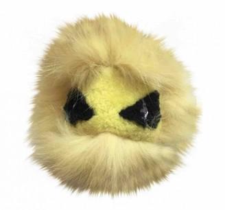 Fendi Bag Bug Yellow Fur Bag charms