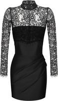 Rasario Silk And Lace Corset Mini Dress
