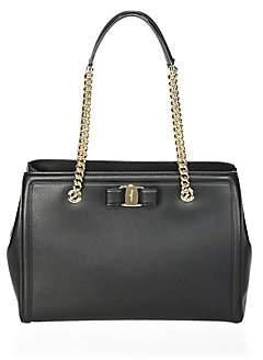 Salvatore Ferragamo Women's Medium Vara Leather Satchel