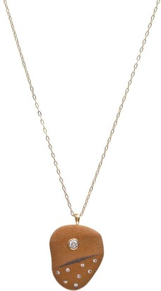 Cvc Stones 18kt yellow gold diamond Fragolina necklace