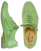 Pakerson Men's Green Leather Lace-up Shoes.