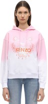 Kenzo Tiger Embroidered Gradient Cotton Hoodie