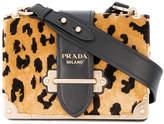 Prada Cahier leopard print velvet bag