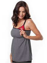 Leading Lady Nursing Bras - Cami Racer Back - Black and Grey Strip - 2X