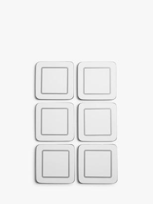John Lewis & Partners Cork-Backed Classic Coasters, Set of 6