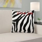 Sealcove I Love You Romantic Zebra Print Pillow Cover East Urban Home