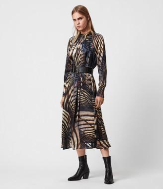 AllSaints Carolina Silk Blend Unison Dress