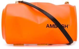 Ambush can-shaped logo print clutch