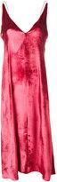 Forte Forte velvet slip dress - women - Silk/Viscose - I