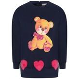 Fun & FunGirls Navy Tedy Bear Sweater