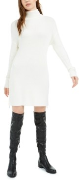 Bar III Side-Zip Turtleneck Tunic Dress, Created for Macy's