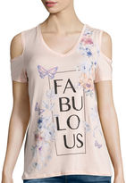 i jeans by Buffalo Short-Sleeve Cold Shoulder Screen Tee