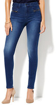 New York & Co. Soho Jeans - Wraparound-Zip High-Waist Legging - Dynamite Blue