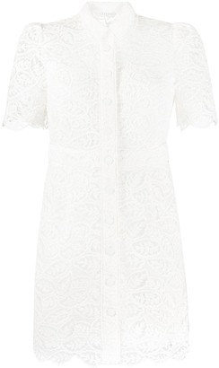 Sandro Paris Lace Shirt Dress