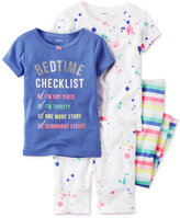 Carter's 4-Pc. Bedtime Checklist Pajama Set, Baby Girls (0-24 months)