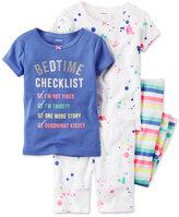 Carter's 4-Pc. Bedtime Checklist Pajama Set, Baby Girls (0-24 months)