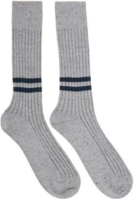 Ermenegildo Zegna Grey Natural Everything Socks
