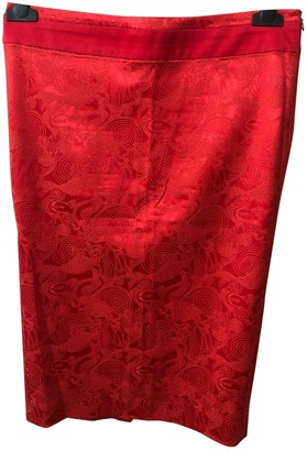 Just Cavalli Red Cotton Skirt for Women
