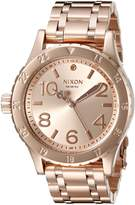 Nixon Women's A410897 38-20 Analog Display Japanese Quartz Rose Gold Watch