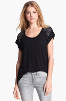 Vince Camuto Two by Stud Jersey Tee Rich Black Small