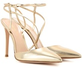 Gianvito Rossi Carlyle Metallic Leather Slingback Pumps