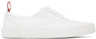 Thom Browne White Heritage Vulcanized Sneakers