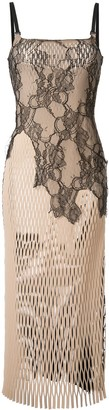 Dion Lee Erosion lace cami-dress