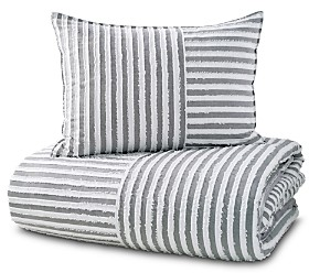DKNY Pure Clipped Squared Duvet Cover Set, King