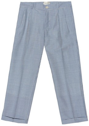 Gucci Kids Wool and mohair checked pants