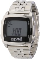 Just Cavalli Men's Watch in White Steel, form Square, line Screen, weight 45 grams