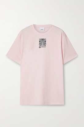 Burberry Printed Cotton-jersey T-shirt - Pastel pink
