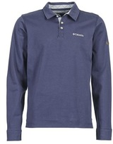 Columbia FIELDS OF GREY LONG SLEEVE POLO Blue