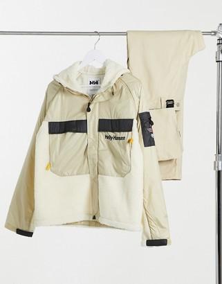 Helly Hansen Heritage unisex pile jacket in khaki