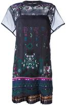 Sacai tribal lace dress - women - Cotton/Polyester - 2
