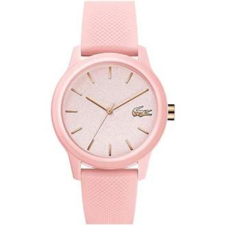 Lacoste Womens Analogue Classic Quartz Watch with Silicone Strap 2001065,Pink