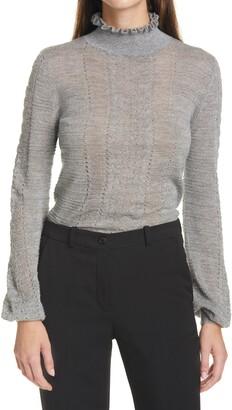 Autumn Cashmere Shimmer Cashmere Blend Turtleneck Sweater