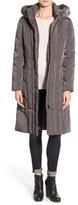Calvin Klein Women's Down & Feather Fill Coat With Faux Fur Trim Hood