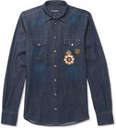 Dolce & Gabbana - Slim-fit Embellished Denim Shirt