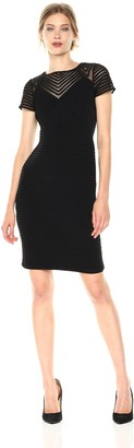 Calvin Klein Women's Pin Tuck Dress with Illusion