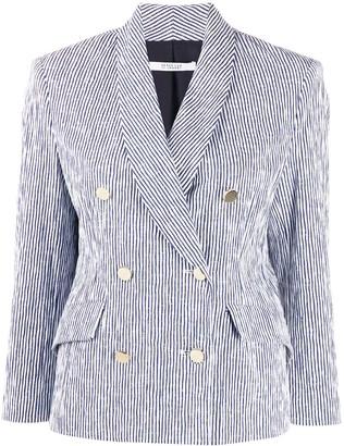 Derek Lam 10 Crosby Myla double-breasted pinstriped blazer