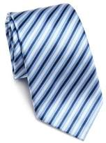 Saks Fifth Avenue COLLECTION Herringbone Textured Striped Silk Tie