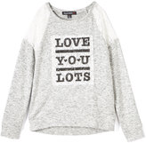 Almost Famous Gray Heather 'Love You Lots' Sweater - Girls