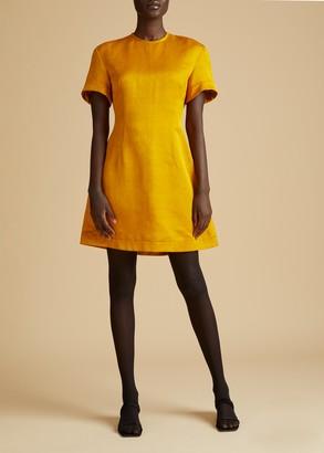 KHAITE The Marcia Dress in Marigold