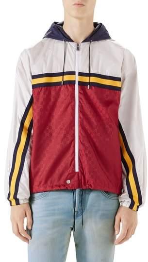 Gucci Colorblock Hooded Windbreaker