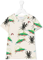 Mini Rodini Insects T-shirt - kids - Organic Cotton/Spandex/Elastane - 7 yrs